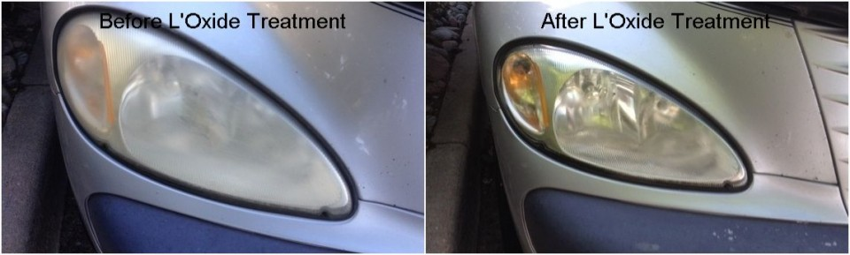 Fix cloudy headlight haze and restore clarity to headlight lens with L'Oxide - PT Cruiser